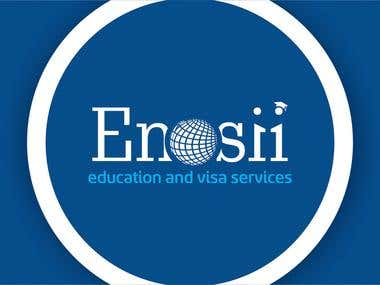 Enosii Logo Design, Business Card Design