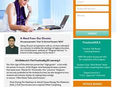 Wordpress Layout Design & Development