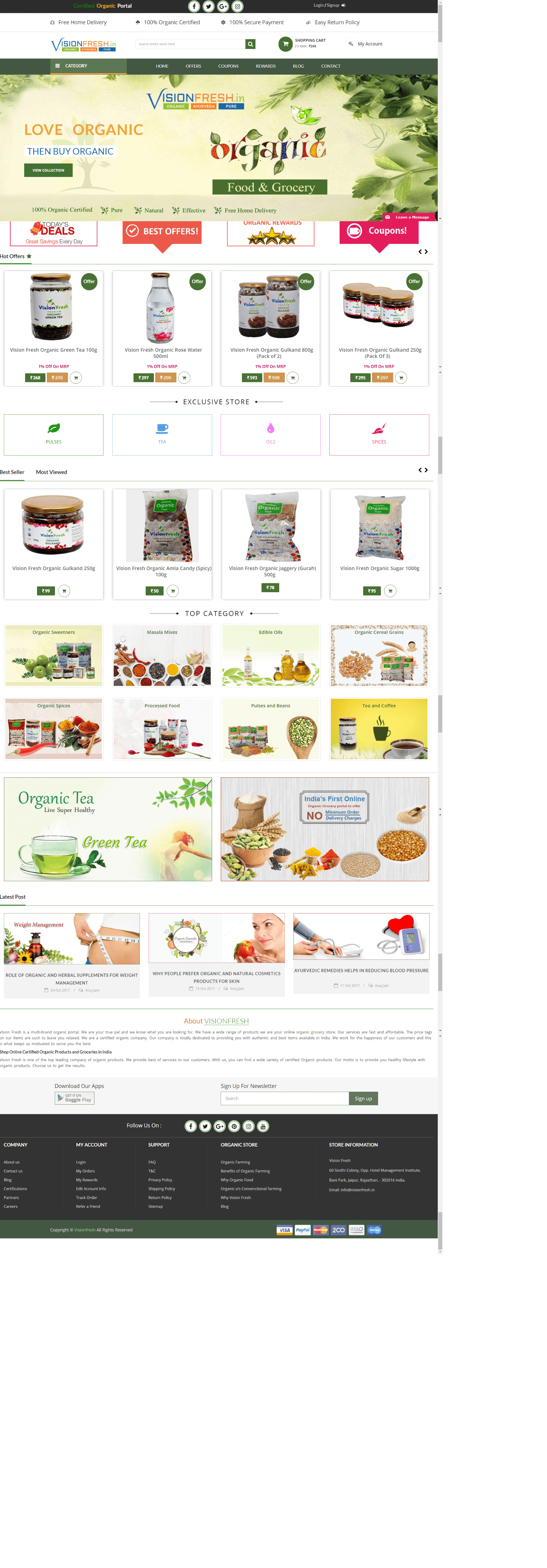 Vision Fresh- Online Organic Food & Grocery Portal