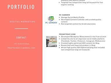 Resume and Portfolio