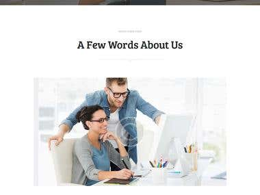 Install wordpress theme.