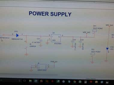 Power supply design 36V dc to 3.3V dc converter