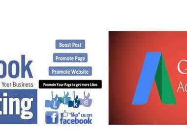 Digital Marketing - Google Adword Ads & Facebook Promotion