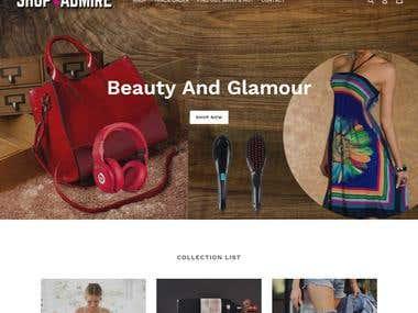 Shopify Site design and development