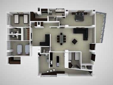 Apartamentos vista Planta