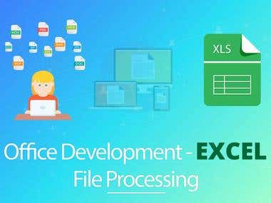 Excel file processing using C#.NET