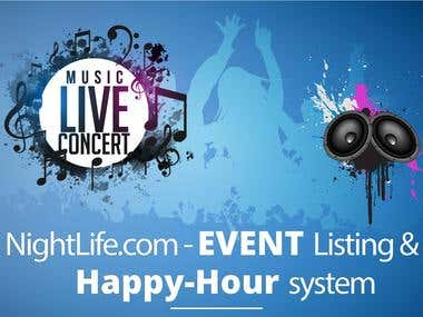 NightLife - Event Listing & Happy Hour Listing system