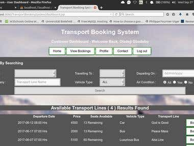 Transport Booking System