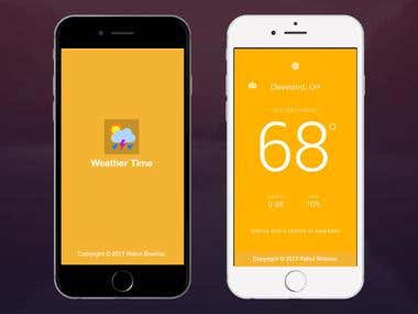 Weather Time App
