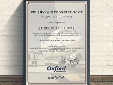 Aviation certificate