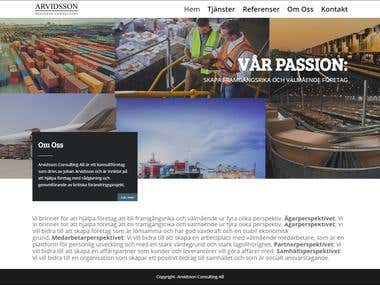 arvidssonconsulting.se website