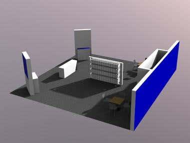 3D floor plan for tradeshow