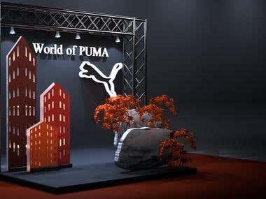 Advertising product. Puma photozone