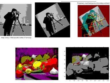 Image processing using Matlab.