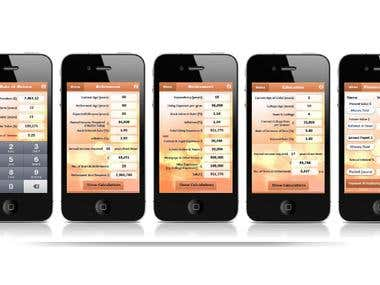 iPhone app for retirement planning