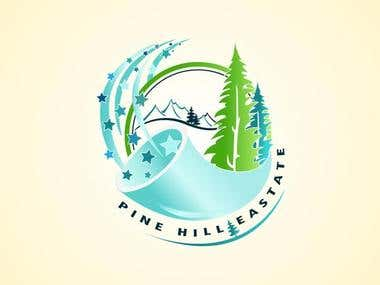 Pine Hill Eastate Logo Design