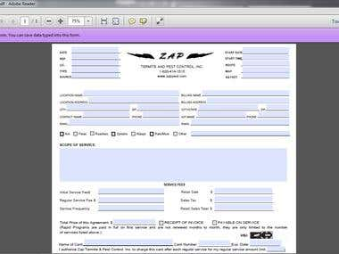 Creating Savable PDF Form