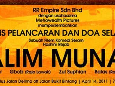 Halim Munan Launching - Banner Design