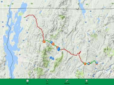 Lamoille Valley Rail Trail Web Map