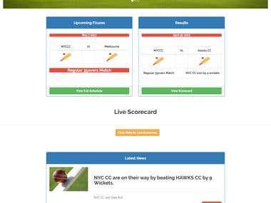New York Cricket Club Website
