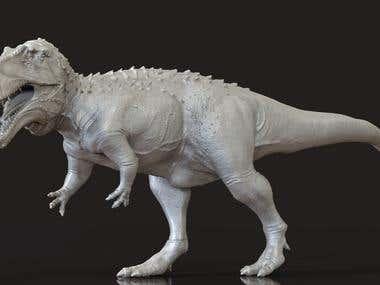 Acrosaurus model for 3d printing
