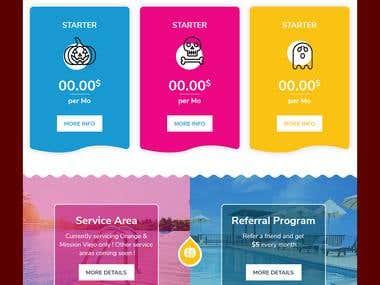 Pool service homepage Halloween theme
