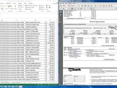 Input Bank Statement