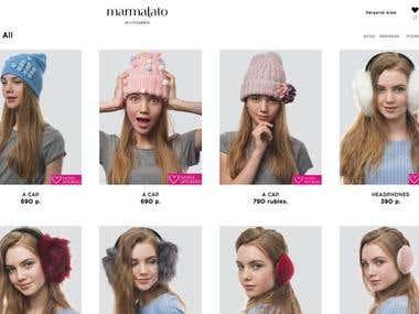 MARMALATO - Online accessories and clothes shop(Laravel)