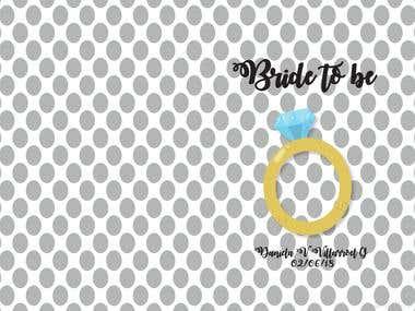 Bride Personalized Agenda