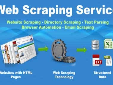 Web/Data scraping using Python, PHP, NodeJS