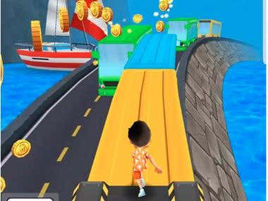 Subway Surfers and Bus Rush Unity Game