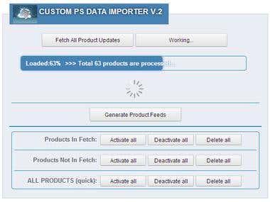 Custom Prestashop Data Importer