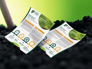 Flyer Design For Plant Food Company