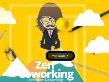 Zen Coworking Website with Javascript