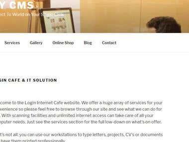 Wordpress Website for Internet Cafe