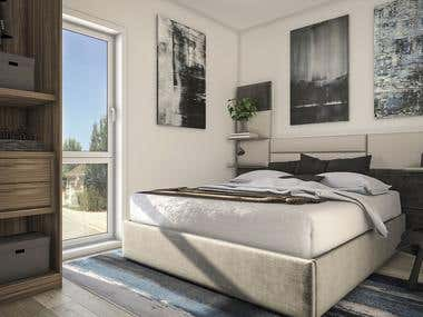 Bed room 3D design!