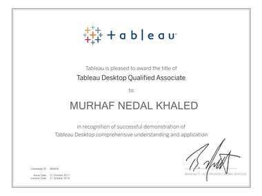 Tableau Desktop Qualified Associate