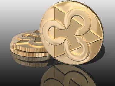 3D Crypto-Coins