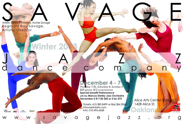 Poster Savage Jazz Dance Co.