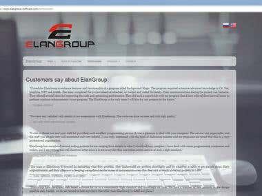 ElanGroup website