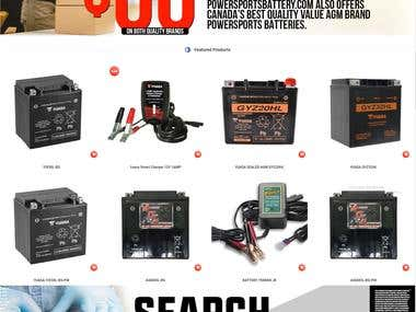 Online Shop for an Automotive Battery Company in Canada