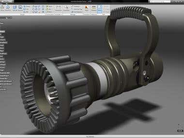 Design of parts on solid works