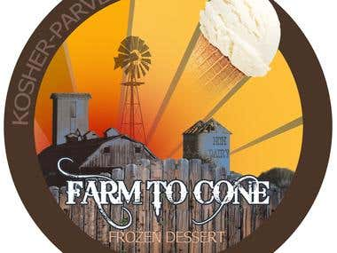 Logo design for ice cream company