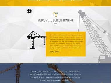 Multilingual Construction Equipment Website