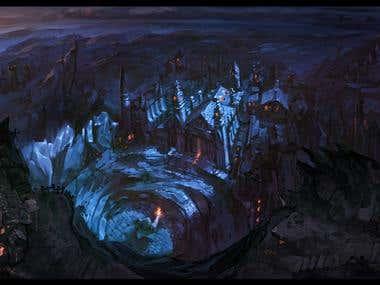 Fantasy Landscape Illustrations.