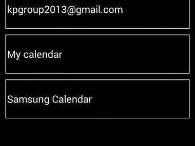 Android Calendar Dialing Application