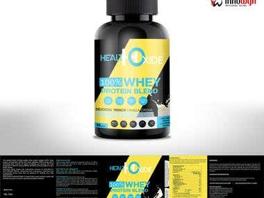 Vitamin Supplements Label Design