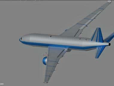 Boeing 777- 3D Model