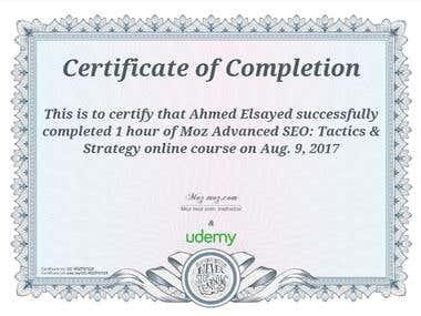 "Moz certificate ""advanced SEO"""
