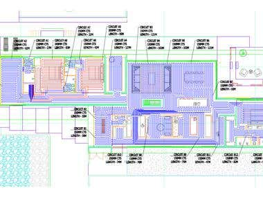 Under floor heating pipe layout